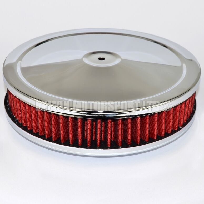 9 inch red pancake air filter ideal for holley edelbrock. Black Bedroom Furniture Sets. Home Design Ideas