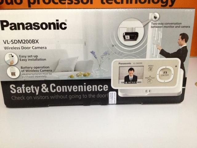 Panasonic wireless door camera video intercom vl for Door video camera