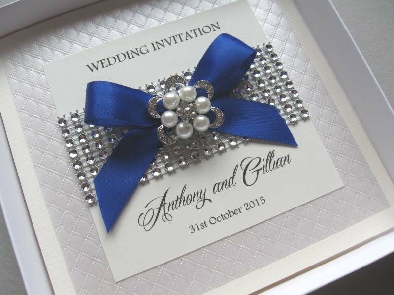 Bling Wedding Invitations: Pearls & Diamante Bling
