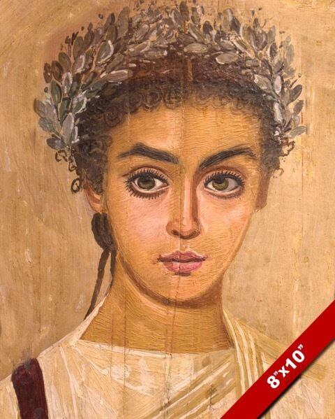 FEMALE MUMMY BEAUTIFUL WOMAN PORTRAIT ROMAN EGYPT PAINTING