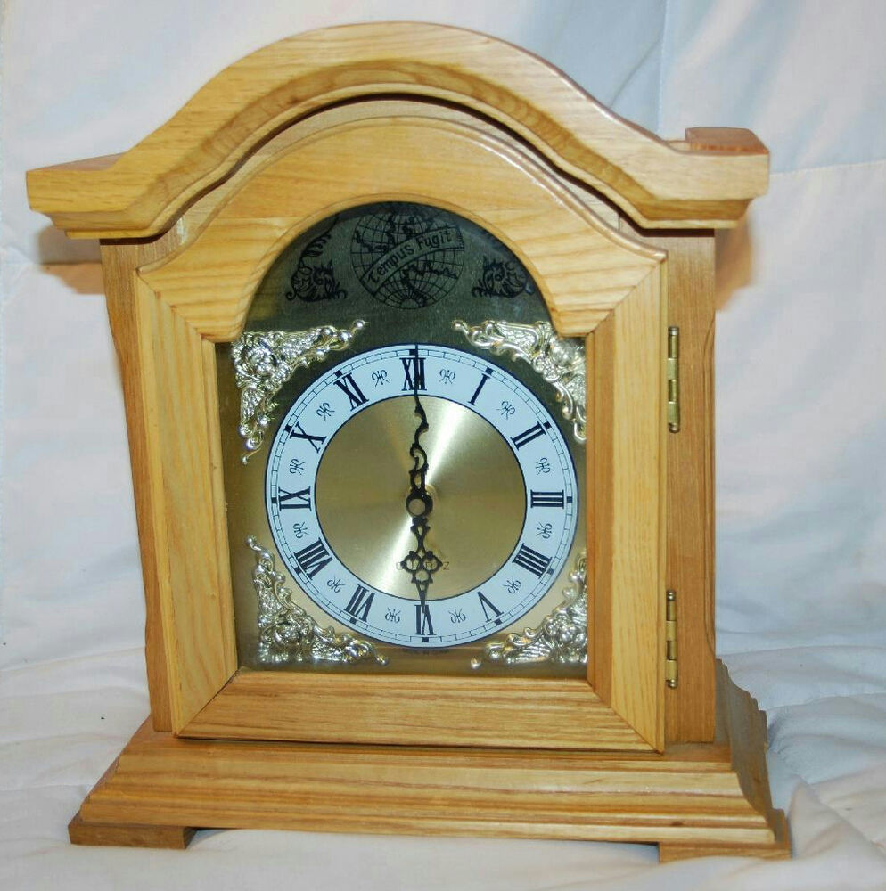 11 5 Tempus Fugit Wood Quartz Mantle Clock Made In China