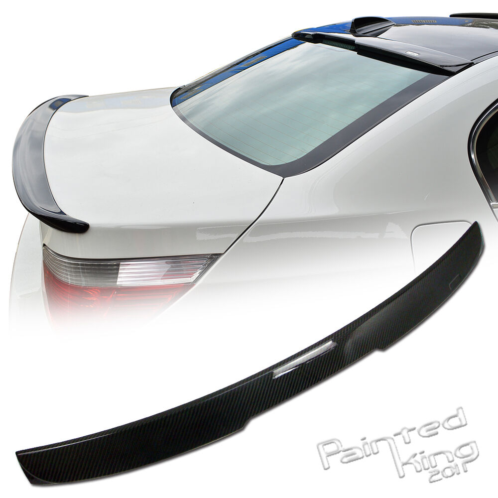 07 10 bmw 5 series e60 rear roof spoiler carbon fiber 525i. Black Bedroom Furniture Sets. Home Design Ideas