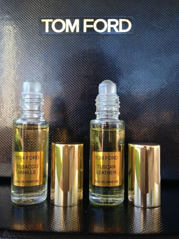 2 x tom ford tobacco vanille tuscan leather 5ml roll on. Black Bedroom Furniture Sets. Home Design Ideas
