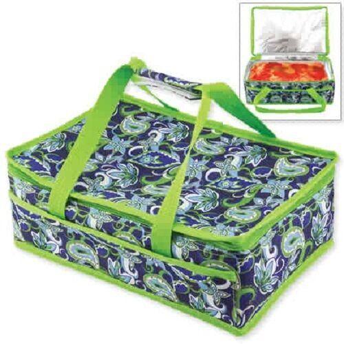 Food To Carr When Travelling: Insulated Casserole Travel Carry Bag Tote Picnic Food