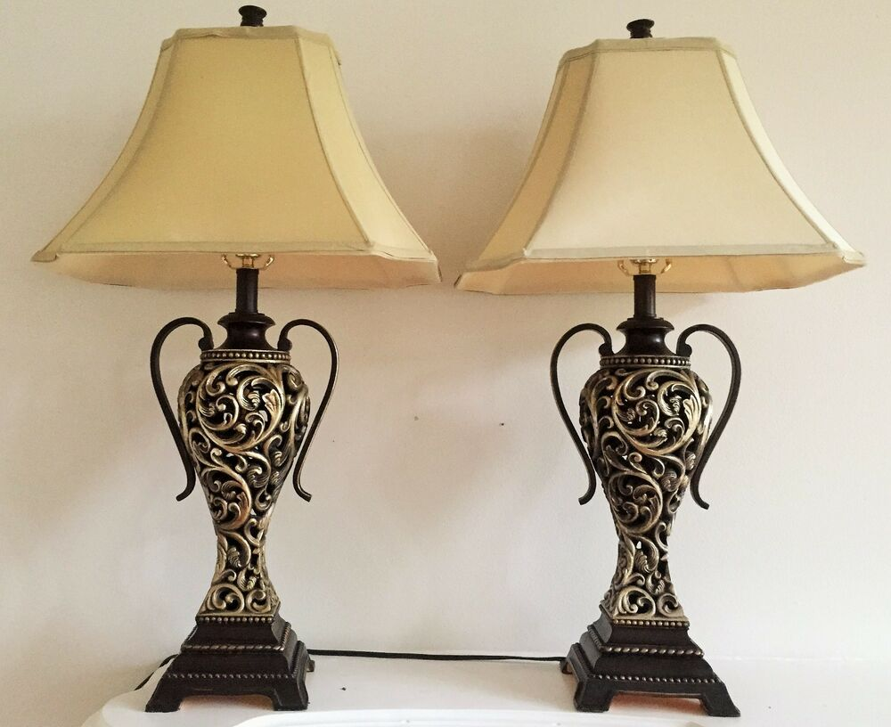 Pair Of Table Lamps Ebay