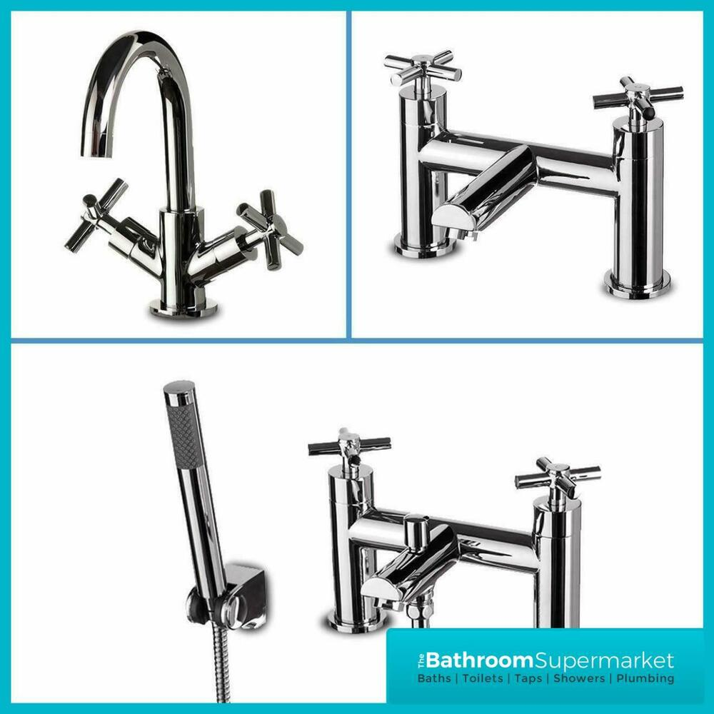 Farina chrome bathroom taps sink basin mixer bath filler for Bathroom taps