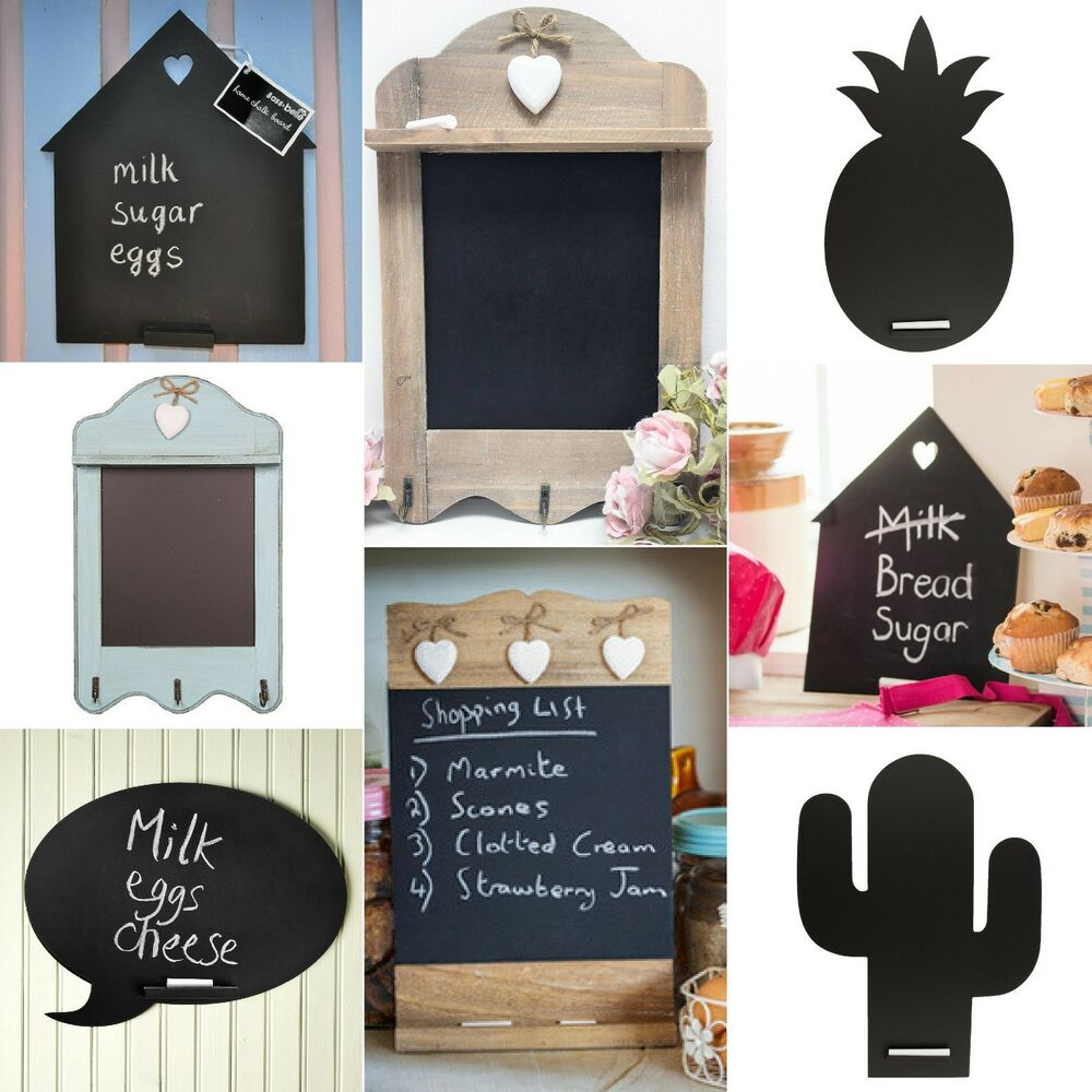 Vintage shabby chic rustic wooden chalkboard memo board for 9x7 kitchen designs