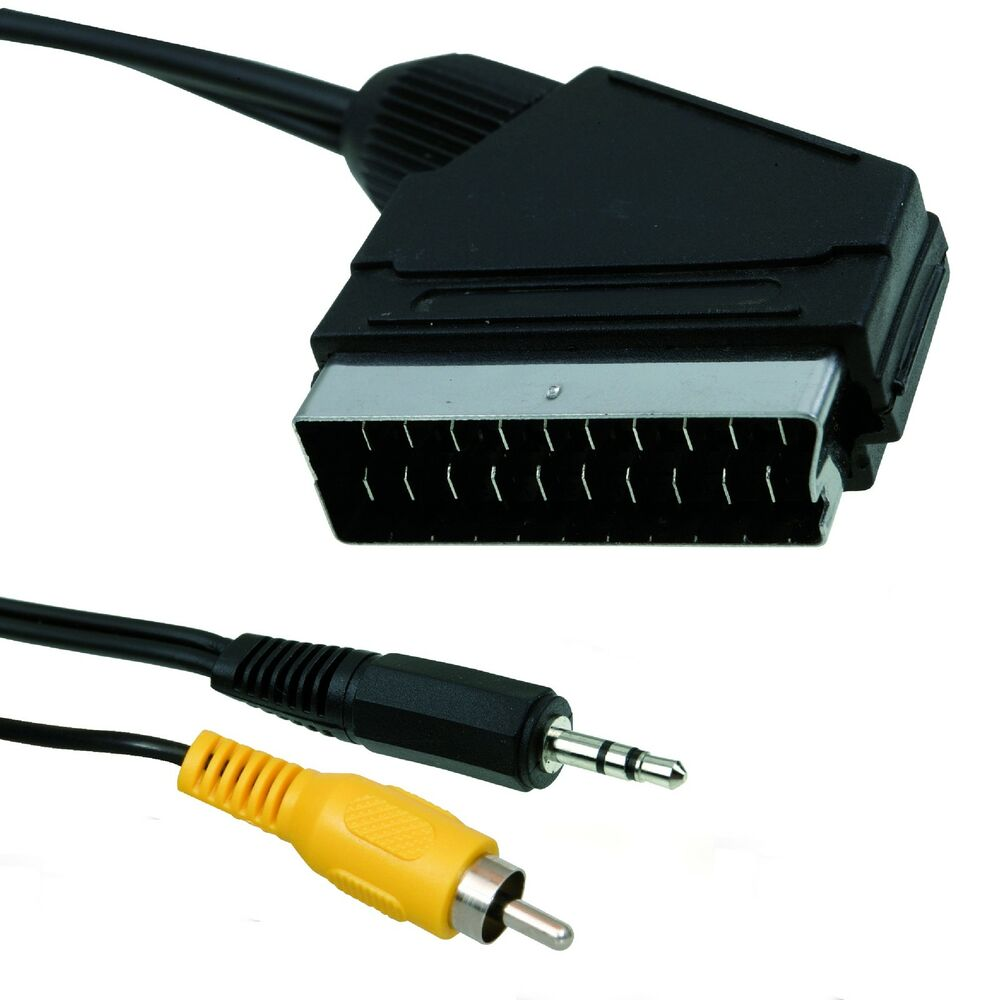 1m scart cable for raspberry pi connect picture sound to tv scart socket ebay. Black Bedroom Furniture Sets. Home Design Ideas