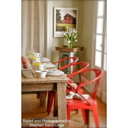 Red Dining Room Furniture: Red Tabouret Stacking Chairs Set Of 4 Dining Room Modern