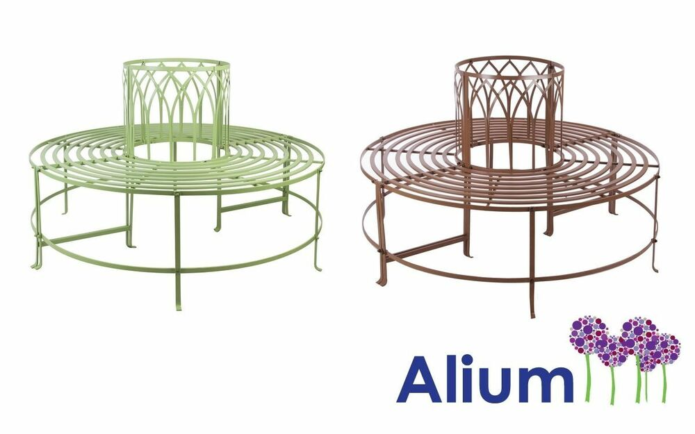 Alium trentino steel circular garden tree seat bench metal Circular tree bench