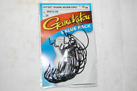 gamakatsu 2/0 offset ewg shank worm tube senko hook 25 pr value pack 58412-25