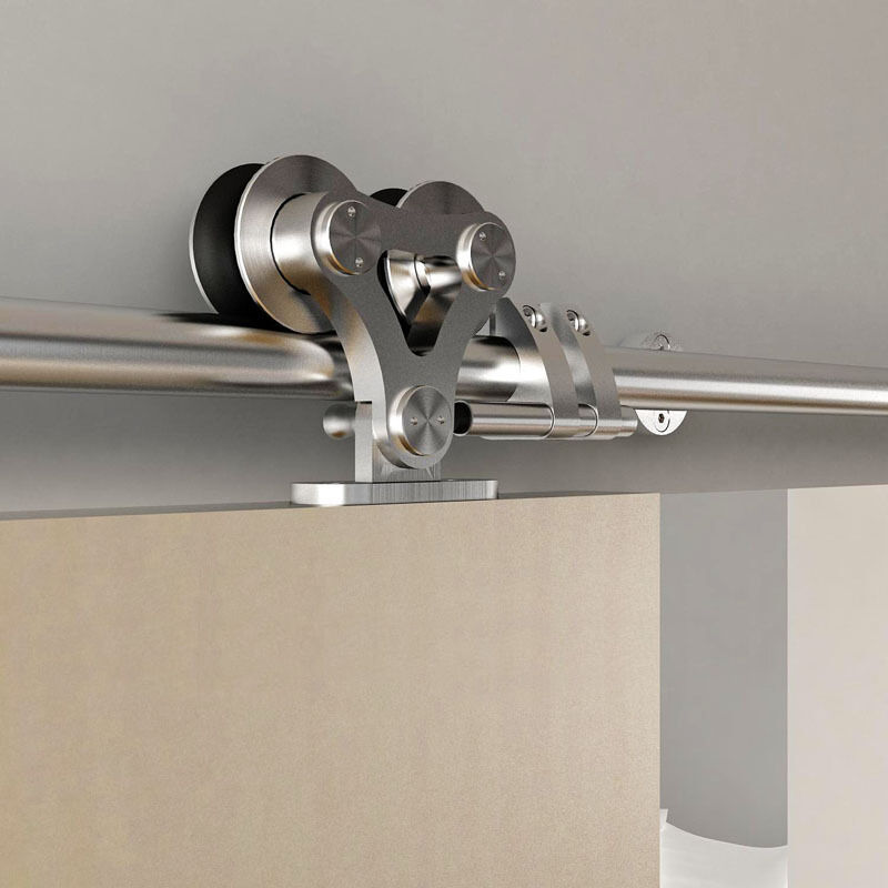 Top mounted stainless steel double head roller sliding for Sliding door rollers
