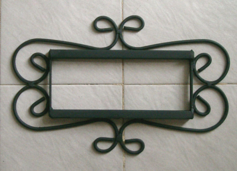 2 mexican 4x4 tiles house numbers iron frame ebay for House number frames