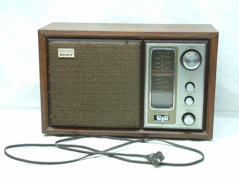 vintage sony model icf 9650w high fidelity fm am table radio works ebay. Black Bedroom Furniture Sets. Home Design Ideas