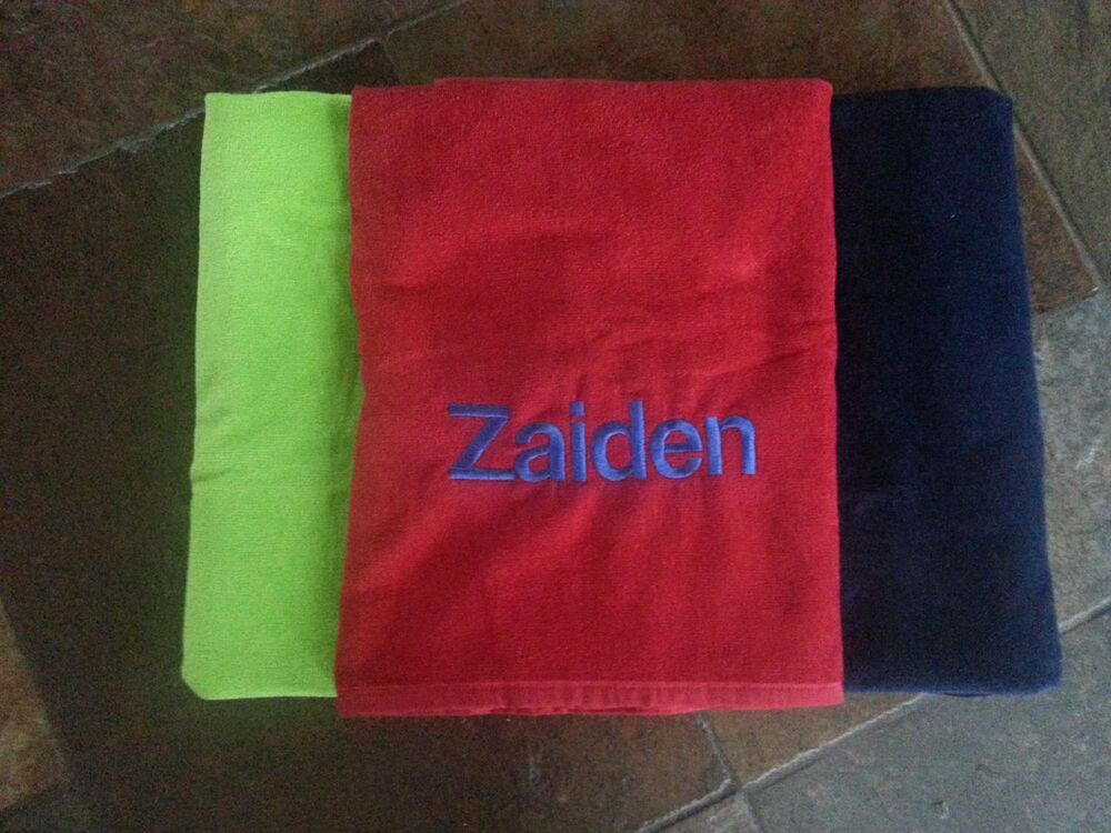 new custom monogrammed beach towels