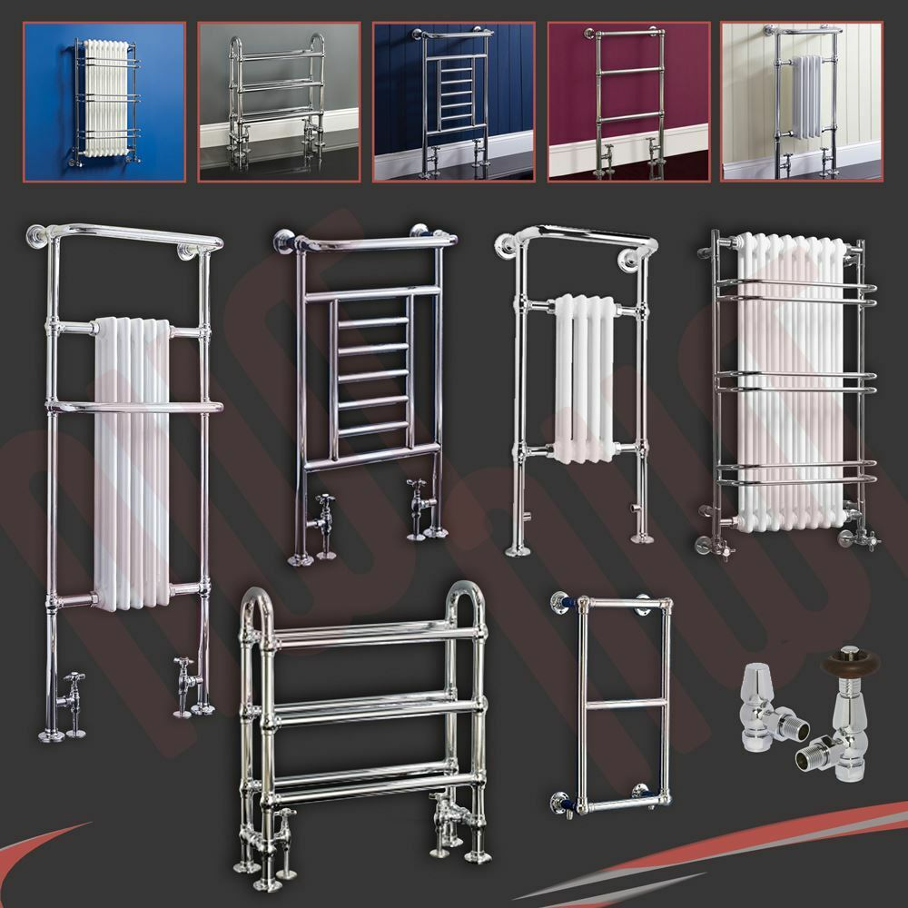 Traditional Bathroom Towel Rails Radiators Chrome & White ...