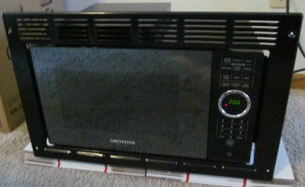 Rv Microwave Built In 9 Cu Ft Black Trim Kit Greystone Motorhome Warranty