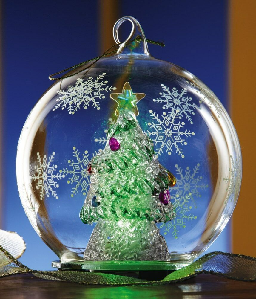 COLOR CHANGING CHRISTMAS TREE ORNAMENT OR TABLETOP DECOR ...