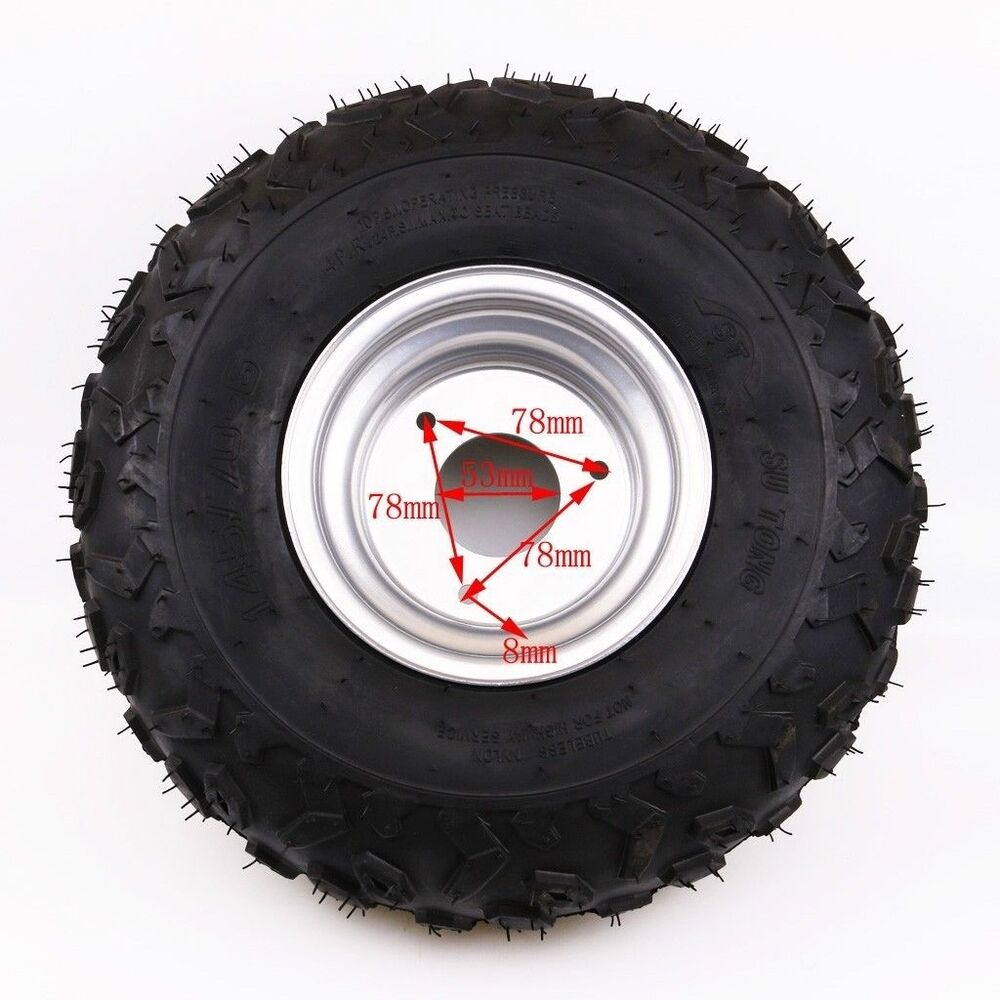 145 70 6 inch front rear wheel rim tyre tire 50cc 110cc quad bike atv buggy ebay. Black Bedroom Furniture Sets. Home Design Ideas