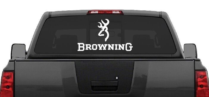 Browning rear window decal graphic truck car suv large 22 wide choose color