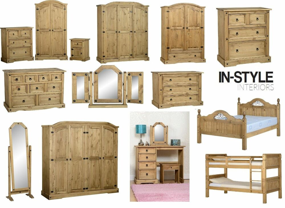 corona mexican pine bedroom furniture wardrobe drawers. Black Bedroom Furniture Sets. Home Design Ideas