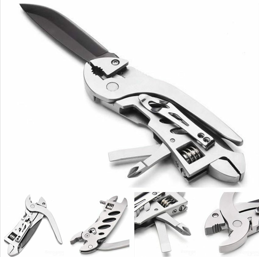 outdoor camping multi tools set folding knife wrench jaw screwdriver pliers ifa ebay. Black Bedroom Furniture Sets. Home Design Ideas