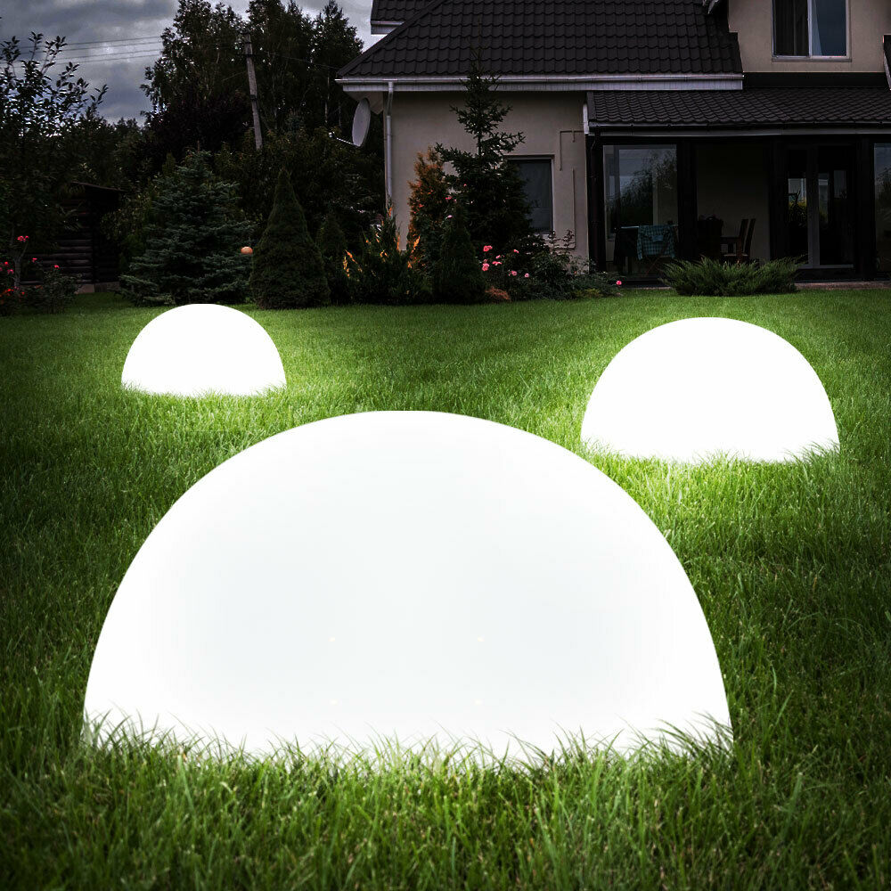 3er boden wand led solar set lampe hof weg au en outdoor leuchte licht garten ebay. Black Bedroom Furniture Sets. Home Design Ideas