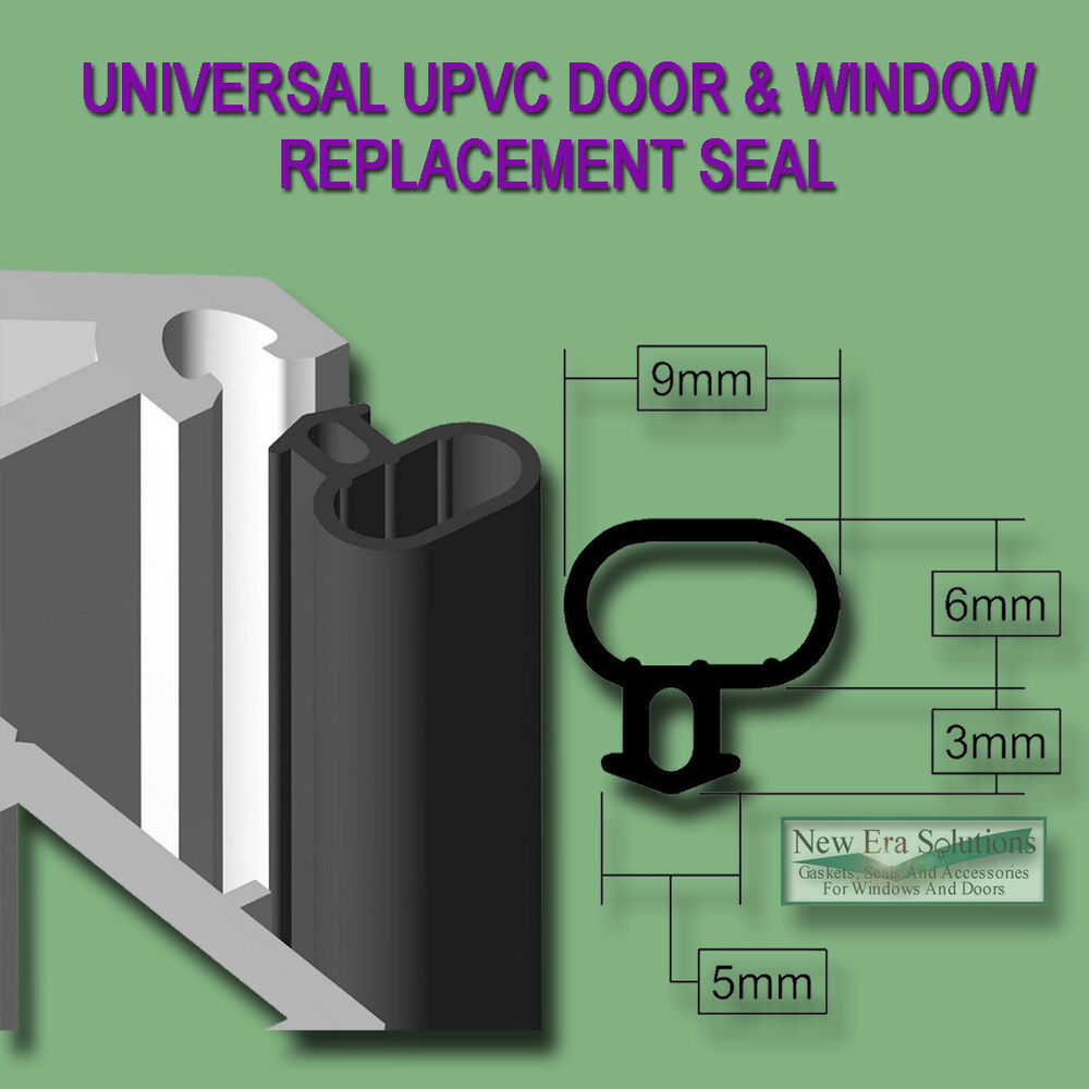 Universal black seal upvc door window draught excluder for Upvc french doors draught
