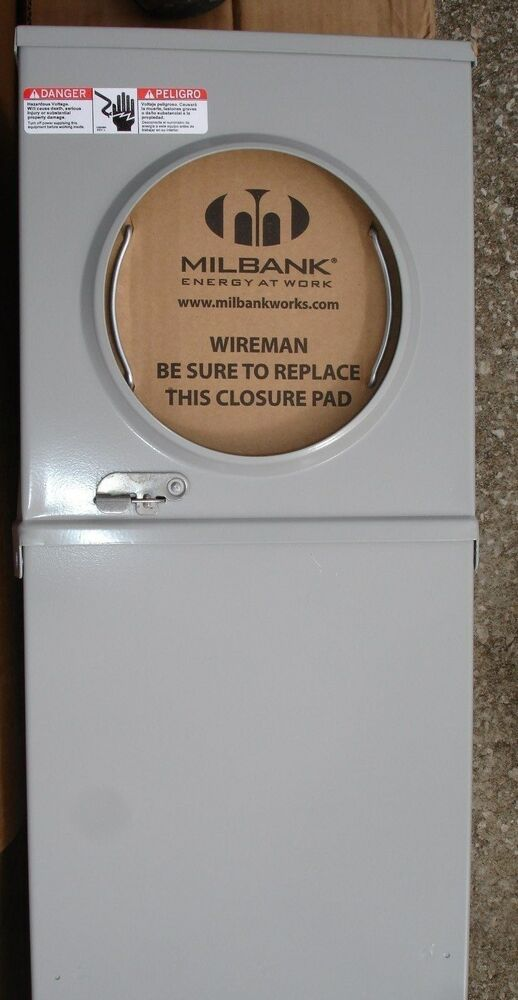 New Double Milbank Mobile Home Metered Service Pedestal