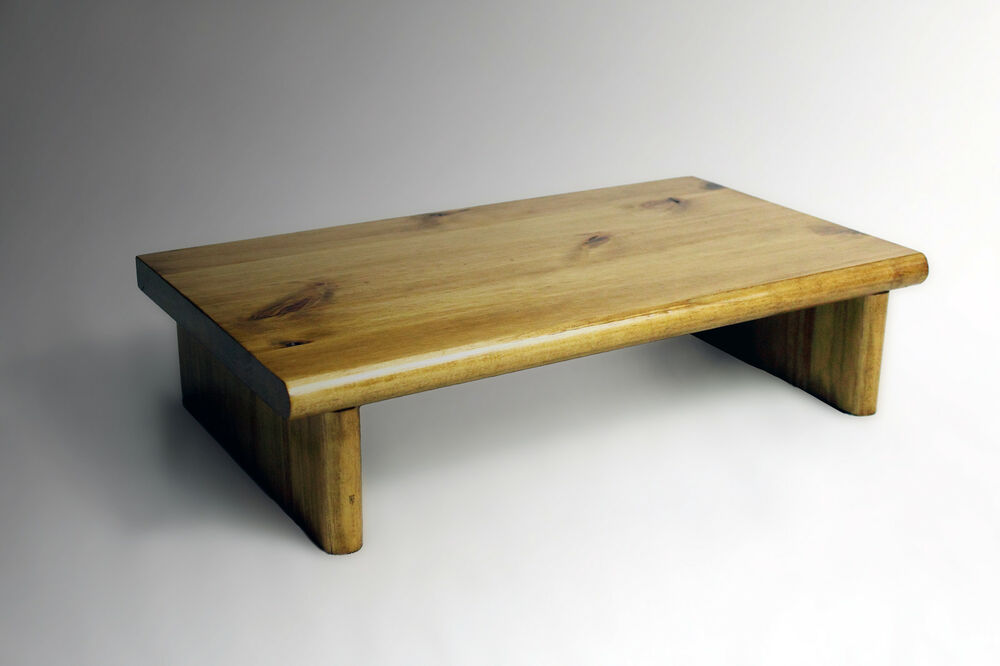 Monitor stand pine golden oak tv wood