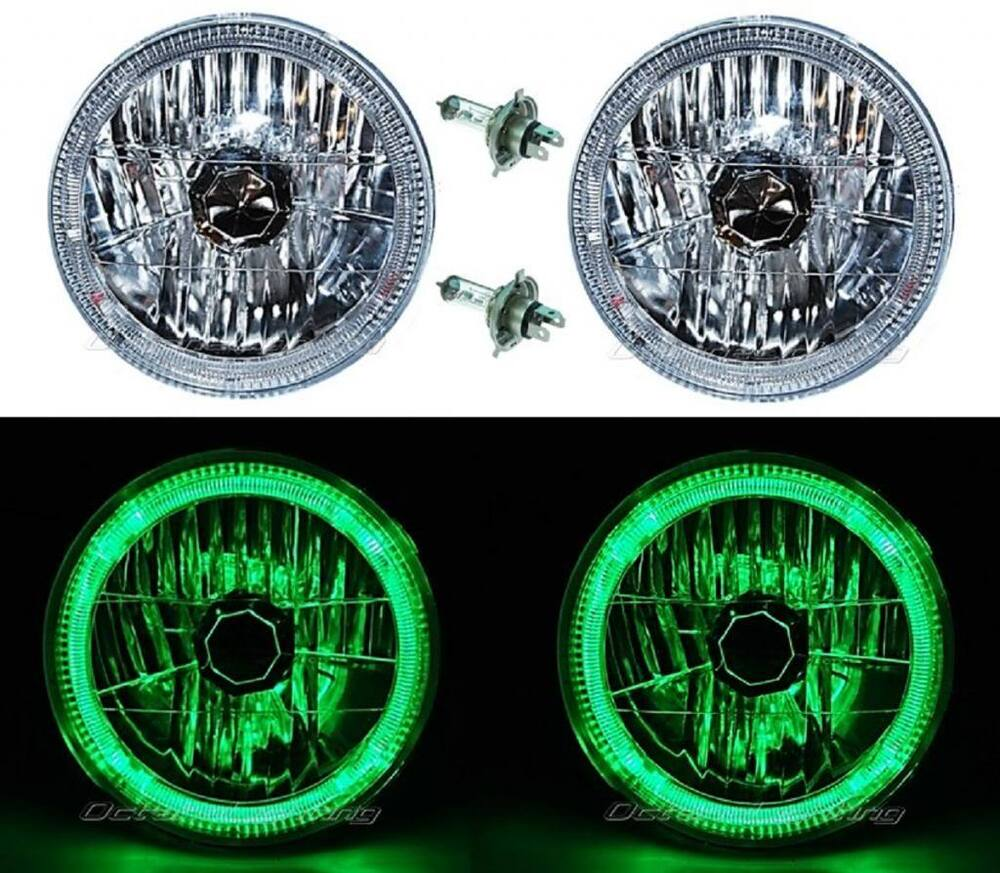 7 led halo headlights green  7  free engine image for user