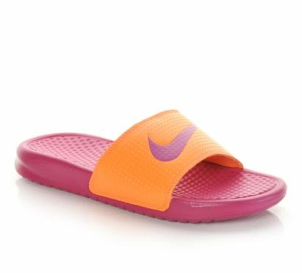 Fantastic Nike Benassi JDI Slide Bright Crimson Fast ShippingWomens Shoes 2375
