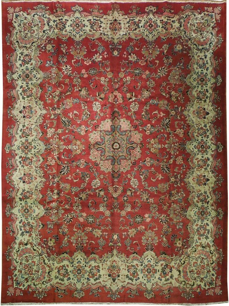 Signed 10x14 Semi Antique Persian Tabriz Rug Ebay