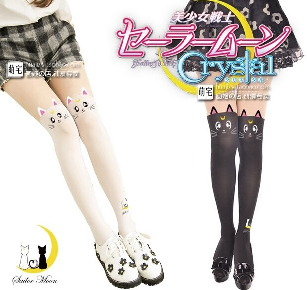 LUNA Cat From Sailor Moon Cosplay Leggings Stocking Socks ...