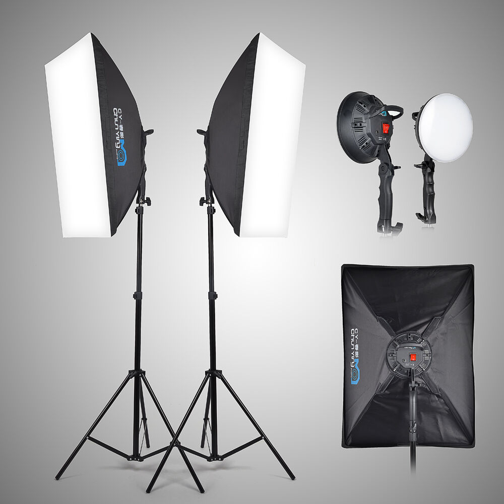 Led Studio Light Repair: 2x LED 5500K Photo Studio Video Light +Softbox +Light