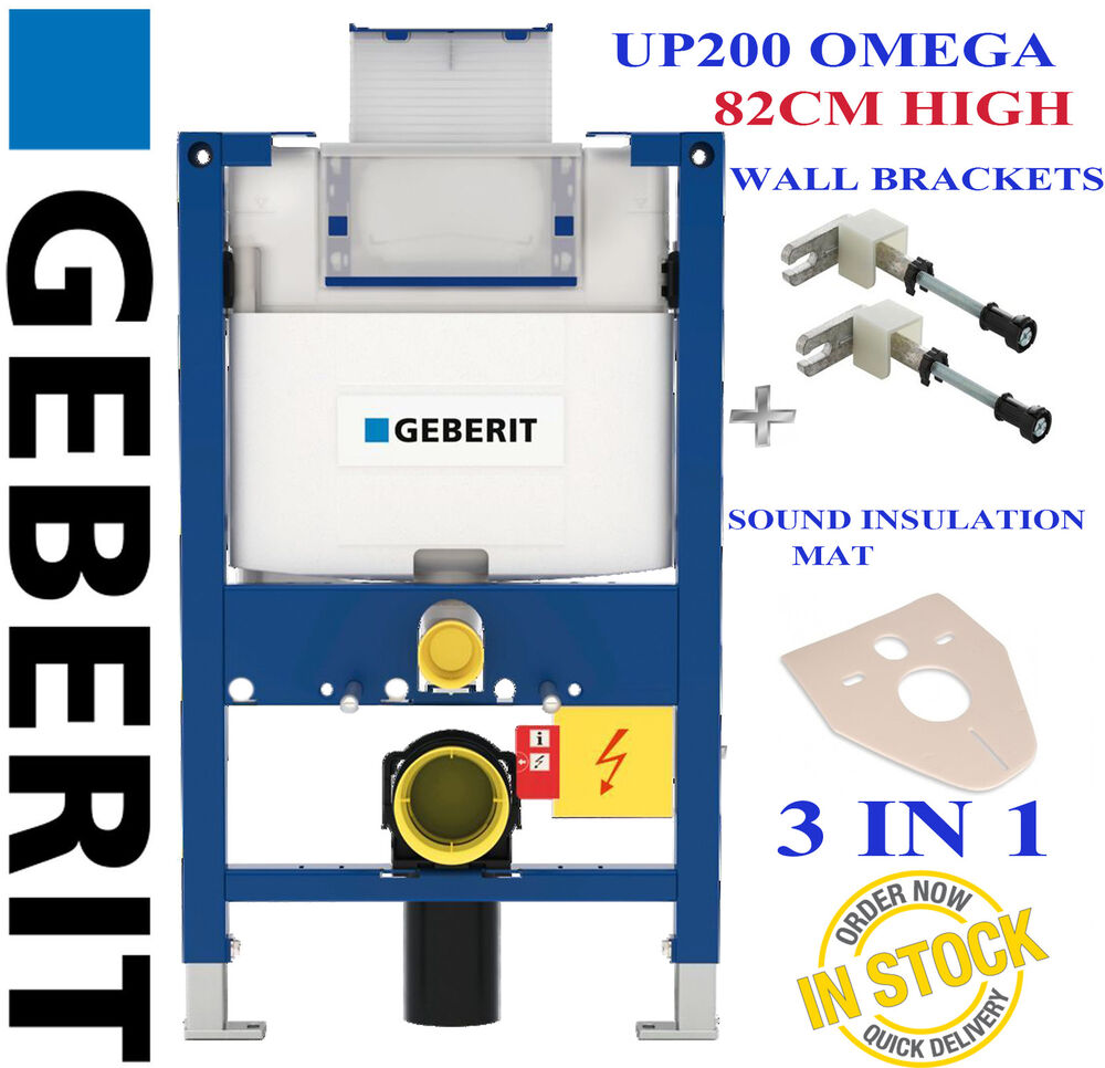 Geberit duofix frame for wall hung wc h82 with omega cistern 12cm - Geberit Duofix Omega Up200 82cm High Wc Toilet Frame Wall Brackets Mat H82 Ebay