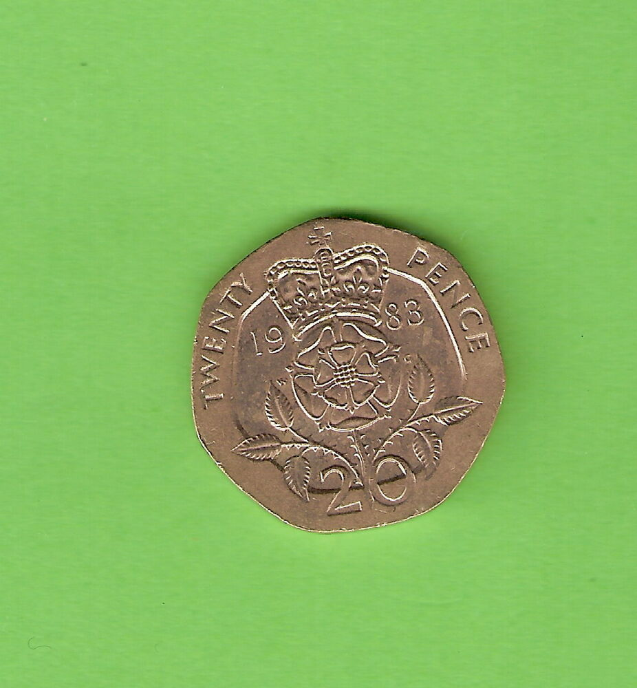1983 Great Britain 20 Pence Coin Ebay