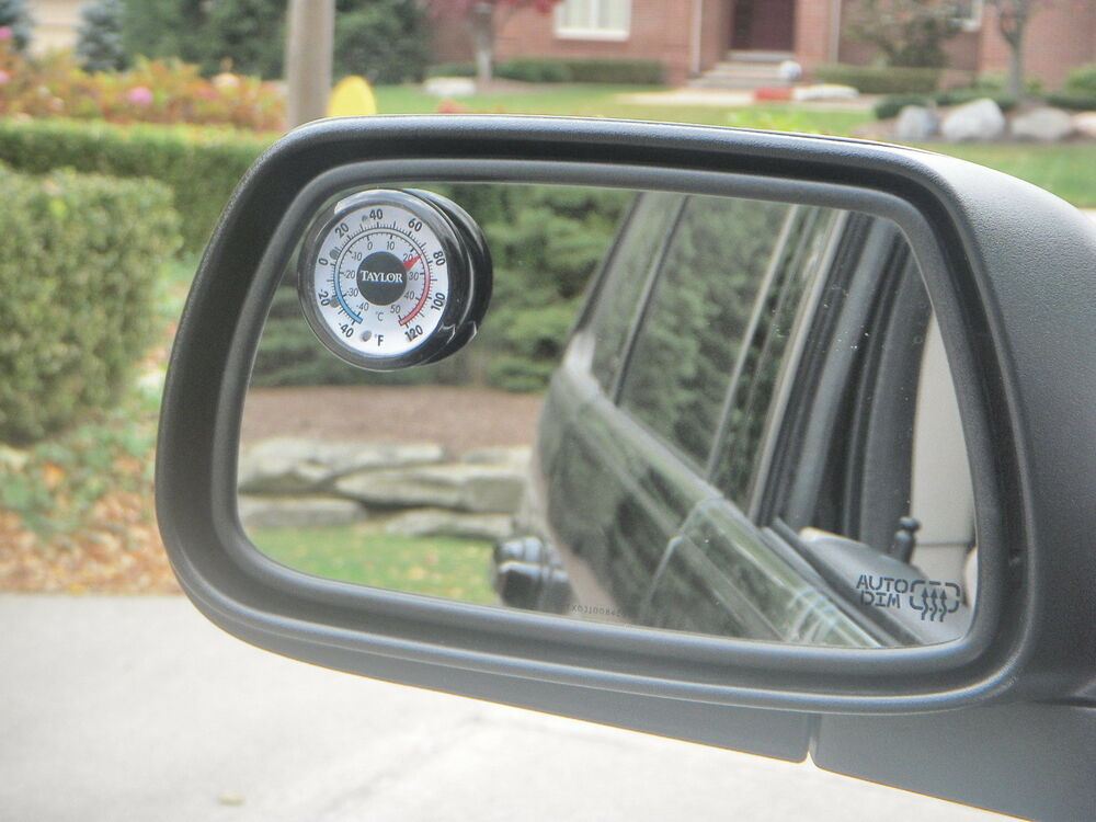 New Outside Mirror Thermometer Gauge Deg F And C Scale Fits Suv Truck Car Rv Ebay