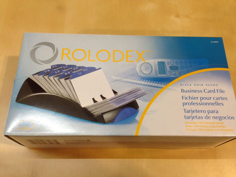 New rolodex 67186 67186rr open tray business card file for Rolodex business card sleeves