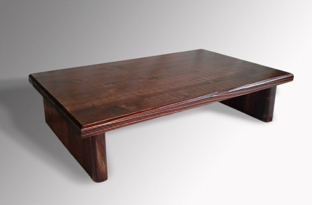 L k monitor stand pine red mahogany stain