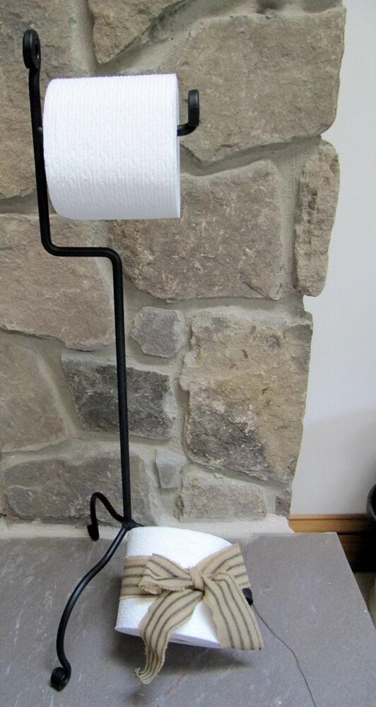 standing toilet paper holder two amish forged sturdy standing toilet paper holders in 10685