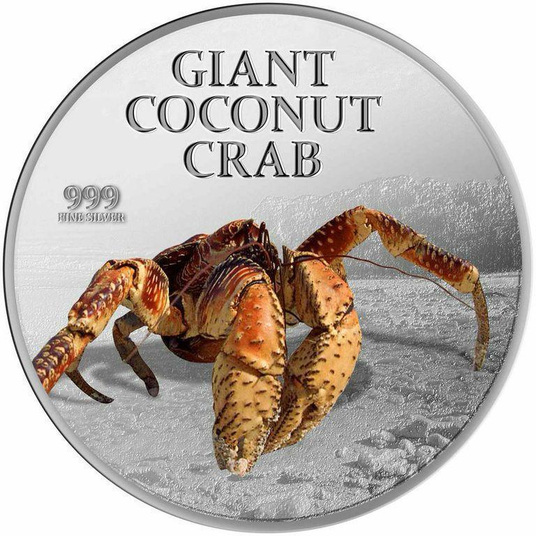 Pitcairn Islands 2013 2 Giant Coconut Crab 1 Oz Silver