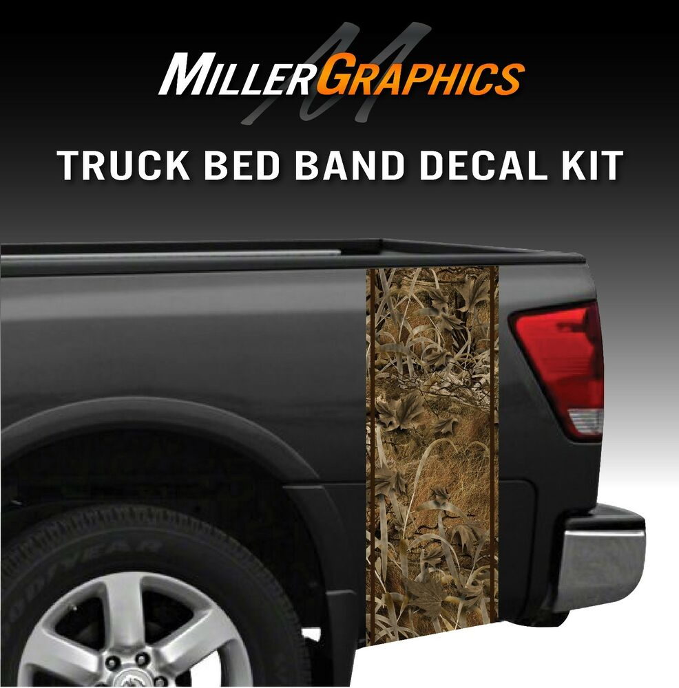 Grassland Hunting Camo Truck Bed Band Decal Graphic