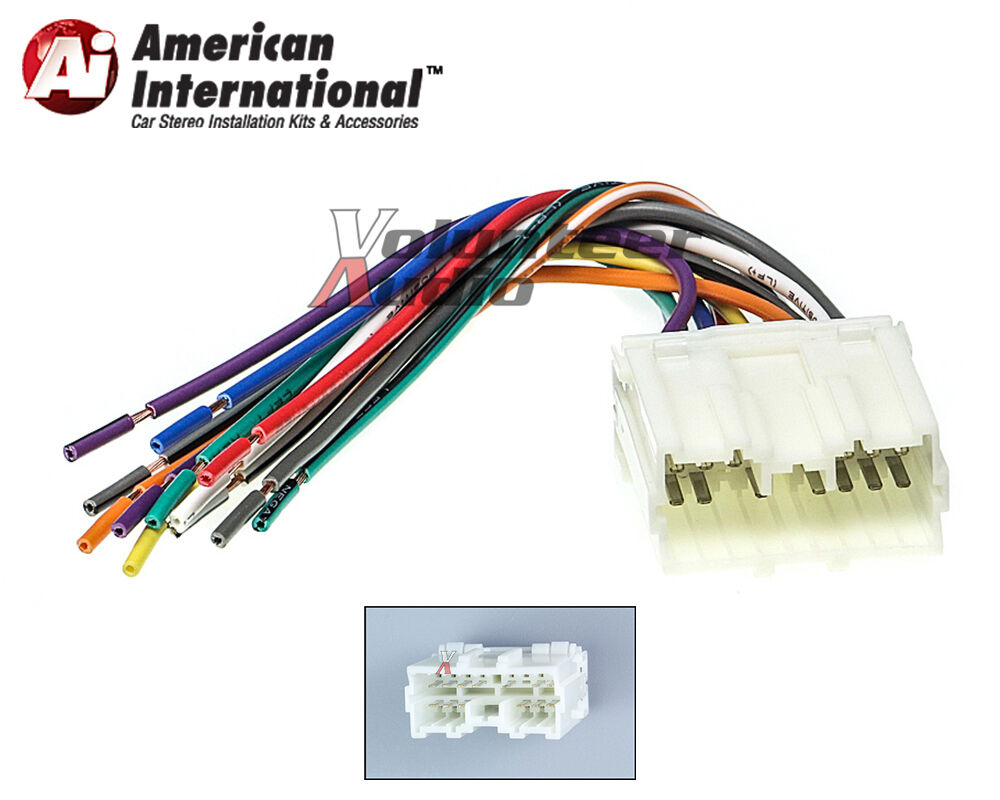mitsubishi car stereo cd player wiring harness wire Stereo Wiring Harness Color Codes Scosche Stereo Wiring Harness