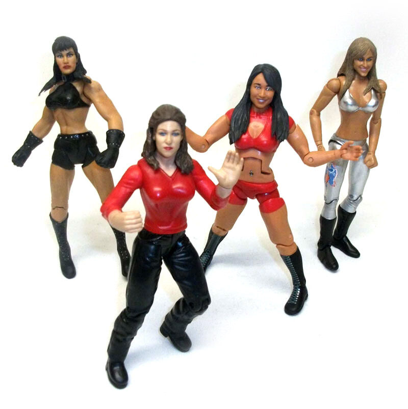 female action figure in latex