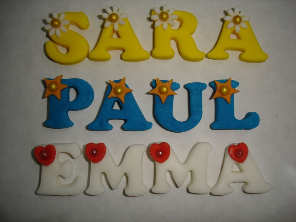 edible letters for cake / cupcake decorationx4 letters ...
