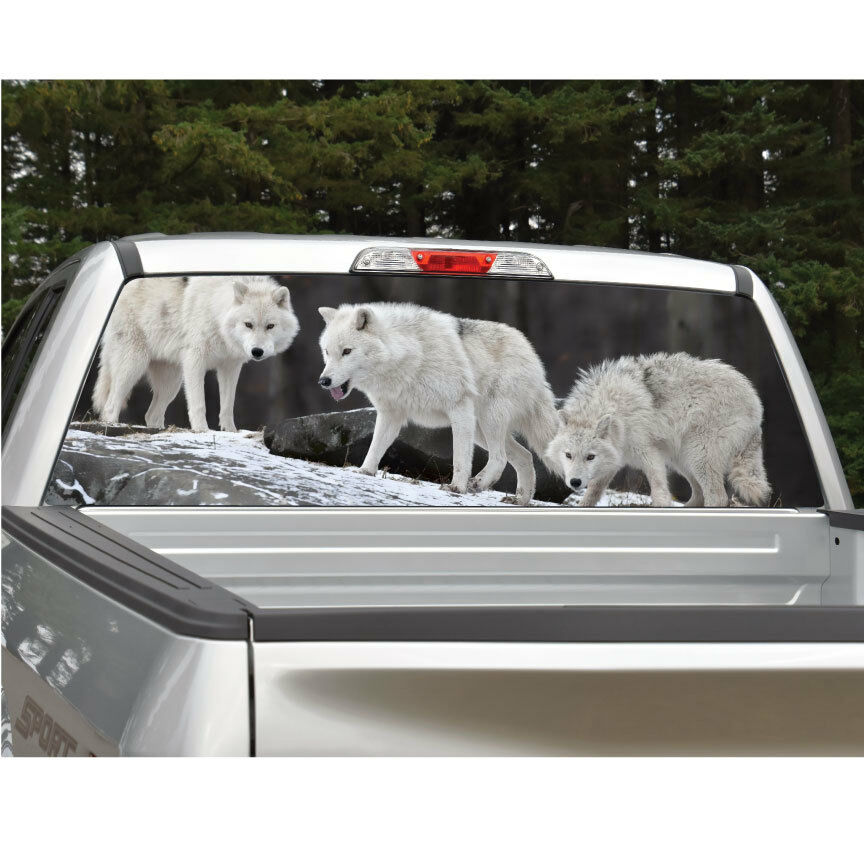 Wolves Wolf Rear Window Decal Graphic For Truck Suv Van Ebay