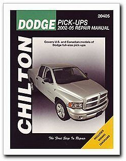 chilton repair manual dodge pick ups 2002 08 20405 ebay. Black Bedroom Furniture Sets. Home Design Ideas