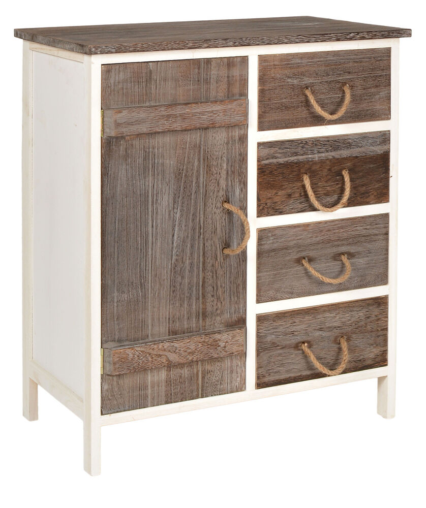 Landhaus kommode flur bad schrank bi color regal in zwei for Kommode schrank mit schubladen