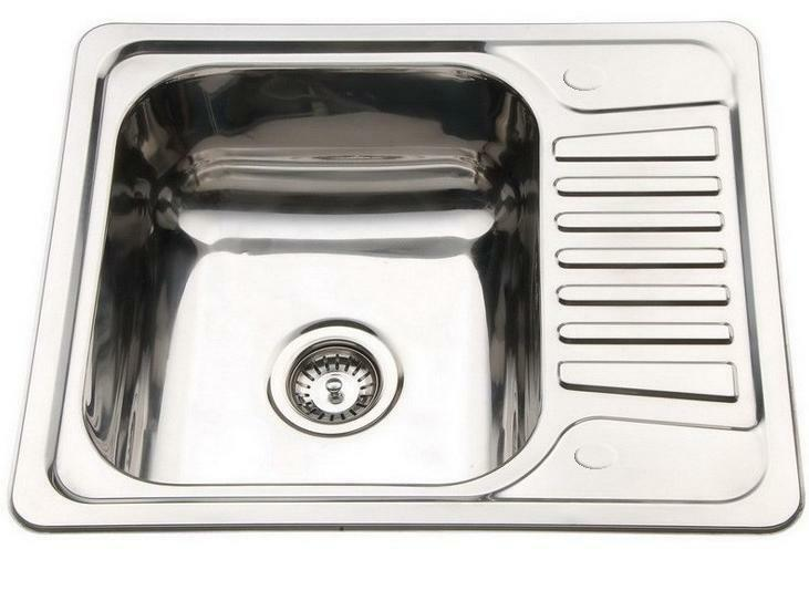 Captivating Kitchen Sink Drainer Compact Stainless Steel Small Inset 1.0 One Bowl .